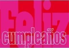 Feliz Cumpleanos (Happy Birthday) Gift Voucher