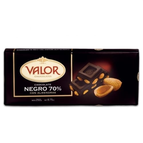Valor Plain 70% Chocolate with Almonds