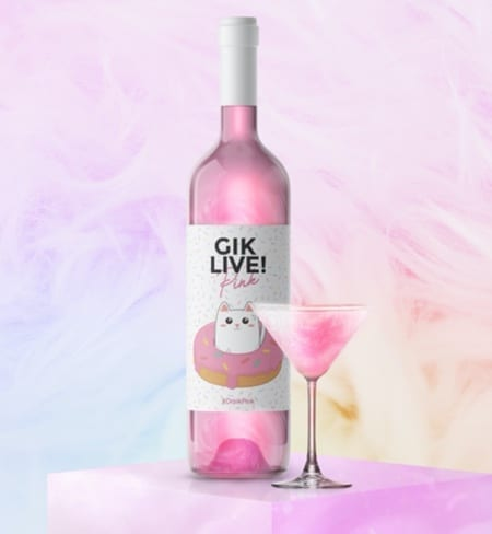 Pink Unicorn Wine by Gik